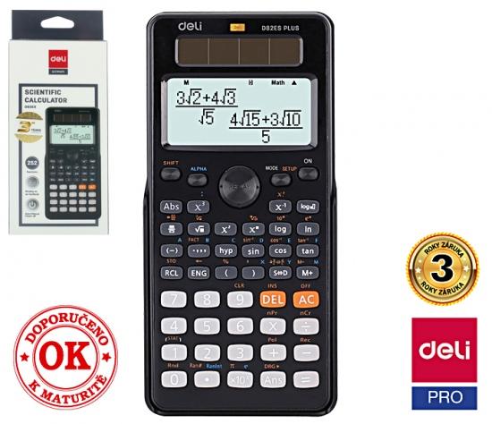 Kalkulačka vědecká DELI ED82ES