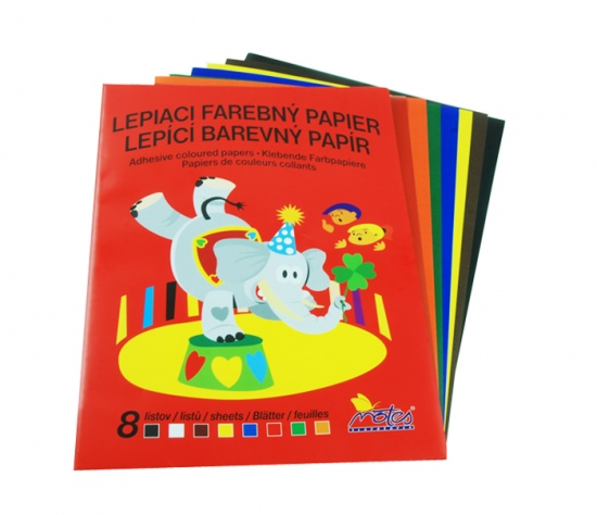Papír barevný  mix složka  8l lepící : 8586009228376