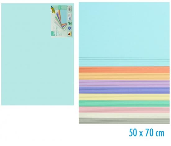Papír barevný 50 x 70cm 100ks pastel mix