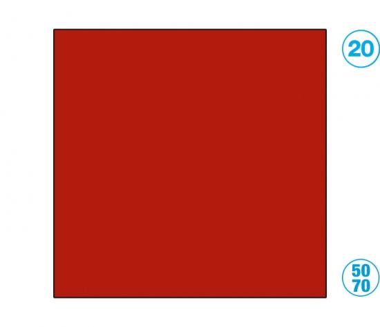Papír barevný 50 x 70cm červený