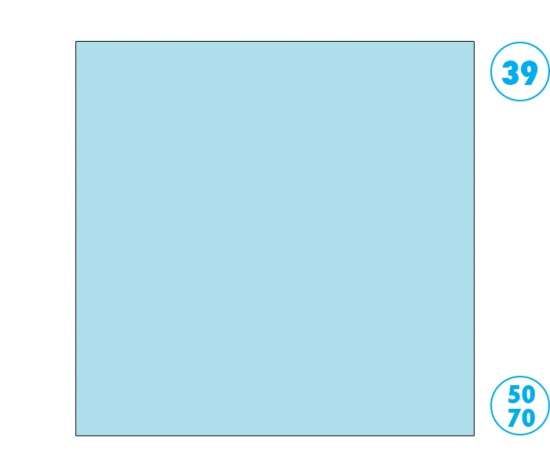 Papír barevný 50 x 70cm modrý ledově