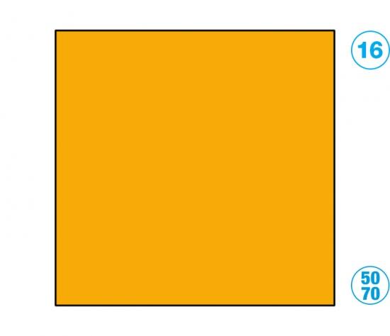 Papír barevný 50 x 70cm oranžová : 4001868061161