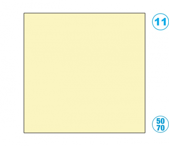 Papír barevný 50 x 70cm žlutý slámově : 4001868161113