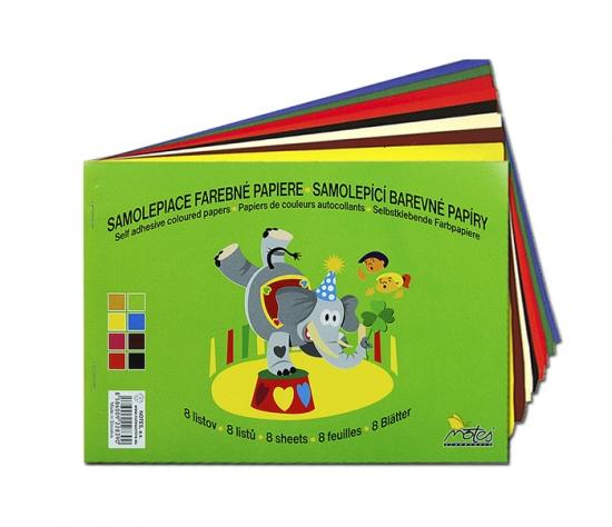 Papír barevný mix složka  8l samolepící : 8586009228390