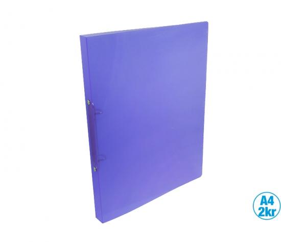 Pořadač LUMA A4 diagonální 2 kroužkový fialový : 6920583835827