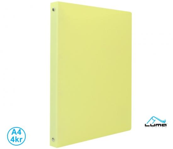 Pořadač LUMA A4 pastel  4 kroužkový žlutý : 8595217907720