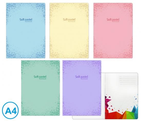 Sešit A4 linka 52l Soft pastel : 8606013569590