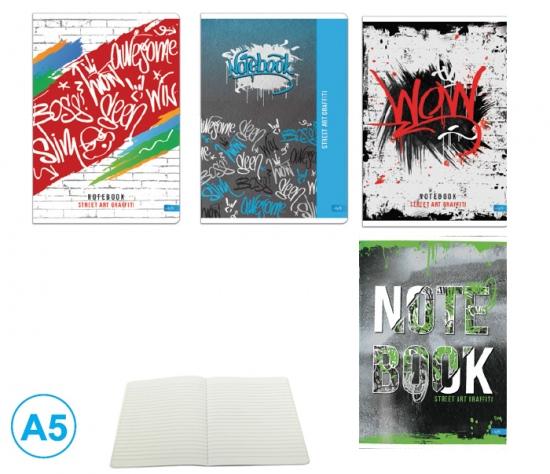 Sešit A5 linka 52l Graffiti : 8606013560498