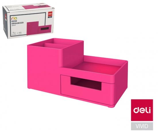 Stojánek plastový DELI EZ25140 růžový