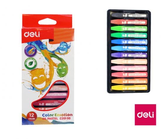 Voskovky olejové DELI 12 barev Color Emotion EC20100 : 6921734941886