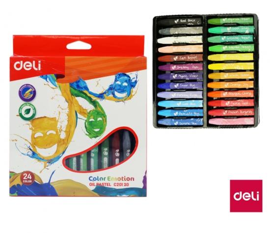 Voskovky olejové DELI 24 barev Color Emotion EC20120 : 6921734941909