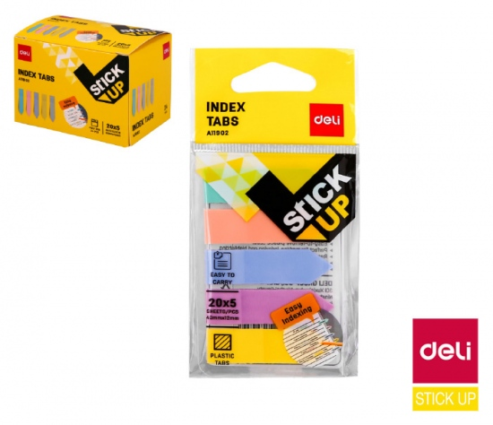 Záložky STICK UP pastel mini set DELI EA11902 : 6921734925459