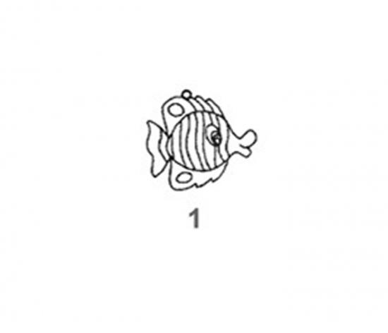 Závěsná sklíčka - 1. RYBKA 1590-01