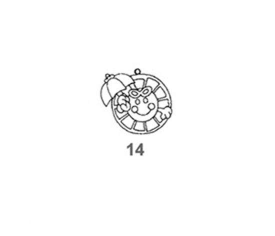 Závěsná sklíčka - 14. SLUNÍČKO 1590-14