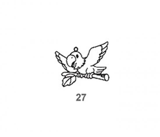 Závěsná sklíčka - 27. PAPOUŠEK 1590-27