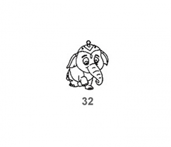 Závěsná sklíčka - 32. SLŮNĚ DUMBO 1590-32