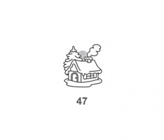 Závěsná sklíčka - 47. DOMEK, 1590-47