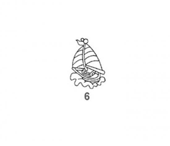 Závěsná sklíčka - 6. PLACHETNICE 1590-06