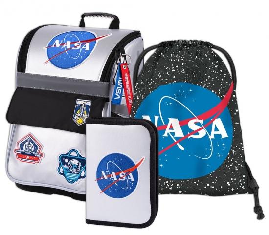 BAAGL SET 3 NASA: aktovka, penál, sáček : 8595054285340