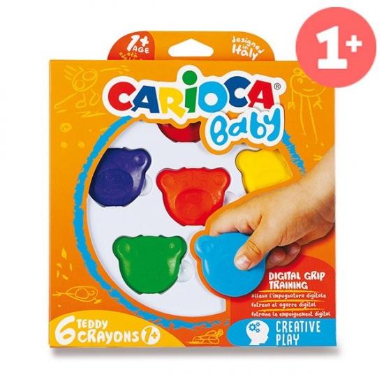 Plastové pastely Teddy 6 barev