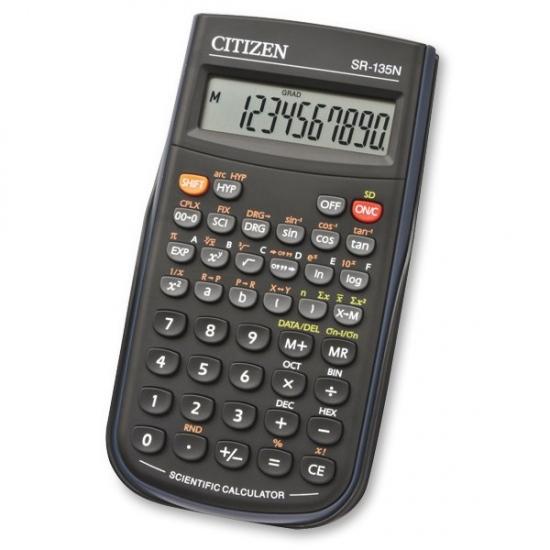 Vědecký kalkulátor SR-135N černá