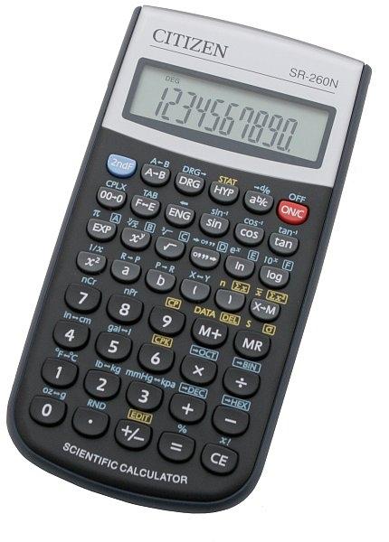 Vědecký kalkulátor SR-260N černá