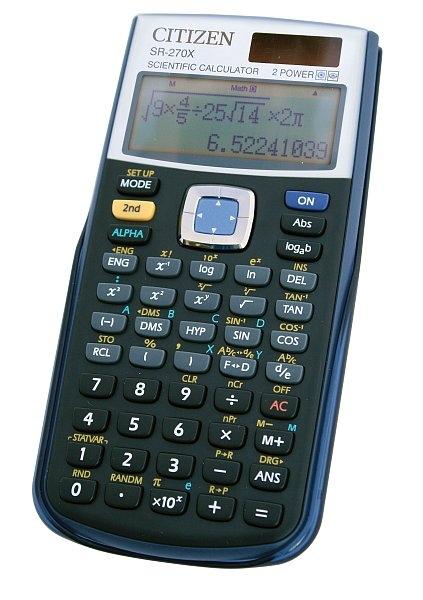 Vědecký kalkulátor SR-270X černá