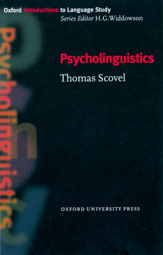 Oxford Introductions to Language Study Psycholinguistics