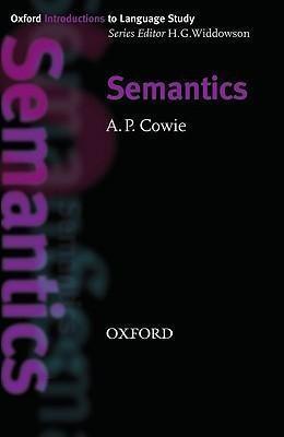 Oxford Introductions to Language Study Semantics