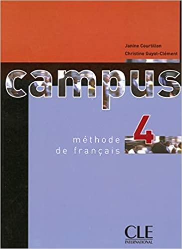 Campus 4 livre de l´éleve : 9782090333145