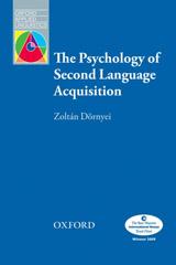 Oxford Applied Linguistics Psychology of Second Language Acquisition
