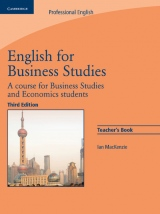 English for Business Studies 3rd Edition Teacher´s Book
