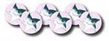 Stříbrní hvězdičkoví smajlíci - 10mm nálepky