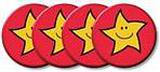 Placky se zlatými hvězdami 38mm