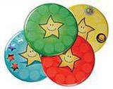 Placky s hvězdičkami v diagramu 55mm