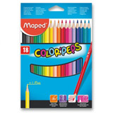 Maped Color´Peps - souprava pastelek - 18 barev