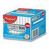 Maped - bílé kulaté křídy - 100 ks