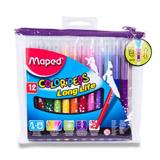 Maped Color Peps- barevné fixy s pouzdrem na zip 12 barev