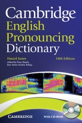 Cambridge English Pronouncing Dictionary, 18th edition Paperback with CD-ROM for Windows