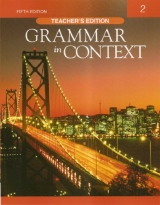 GRAMMAR IN CONTEXT 2 5E TEACHER´S EDITION
