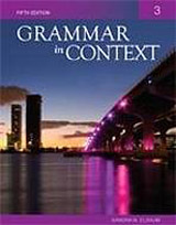GRAMMAR IN CONTEXT 3 5E STUDENT´S BOOK International Student Edition
