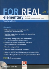 FOR REAL Elementary Level Teacher´s Book + Class CD /3/ + Interactive Book DVD-ROM