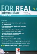 FOR REAL Intermediate Level Teacher´s Book + Class CD /3/ + Interactive Book DVD-ROM