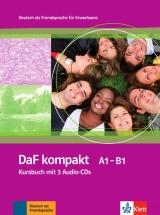 DaF kompakt A1-B1 Kursbuch mit 3 Audio-CDs
