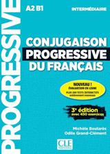 Conjugaison progressive du francais - Niveau intermédiaire (A2/B1) - Livre + CD + Appli-web - 3eme édition