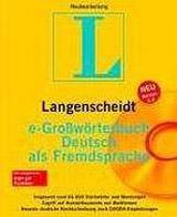 Langenscheidt Grosswörterbuch DaF CD-ROM