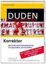 DUDEN KORREKTOR FÜR OPEN OFFICE/STAR OFFICE