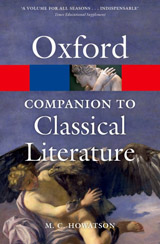 CONCISE OXFORD COMPANION TO CLASSICAL LITERATURE