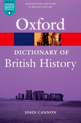 OXFORD DICTIONARY OF BRITISH HISTORY 2nd Edition