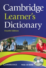 Cambridge Learner´s Dictionary, 4th edition PB and CD-ROM for Windows
